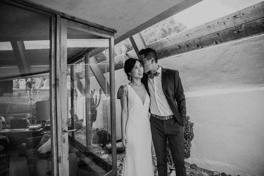 Mid Century Modern Palm Springs Wedding Lautner Compound May Iosotaluno Photography 15