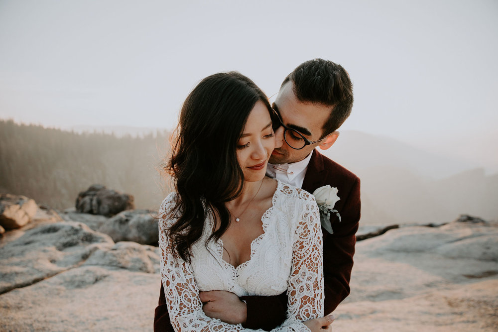 Yosemite National Park Elopement Taft Point Sunset May Iosotaluno Photography