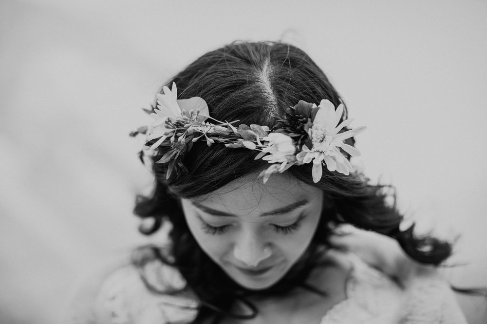Yosemite National Park Elopement Floral Crown May Iosotaluno Photography