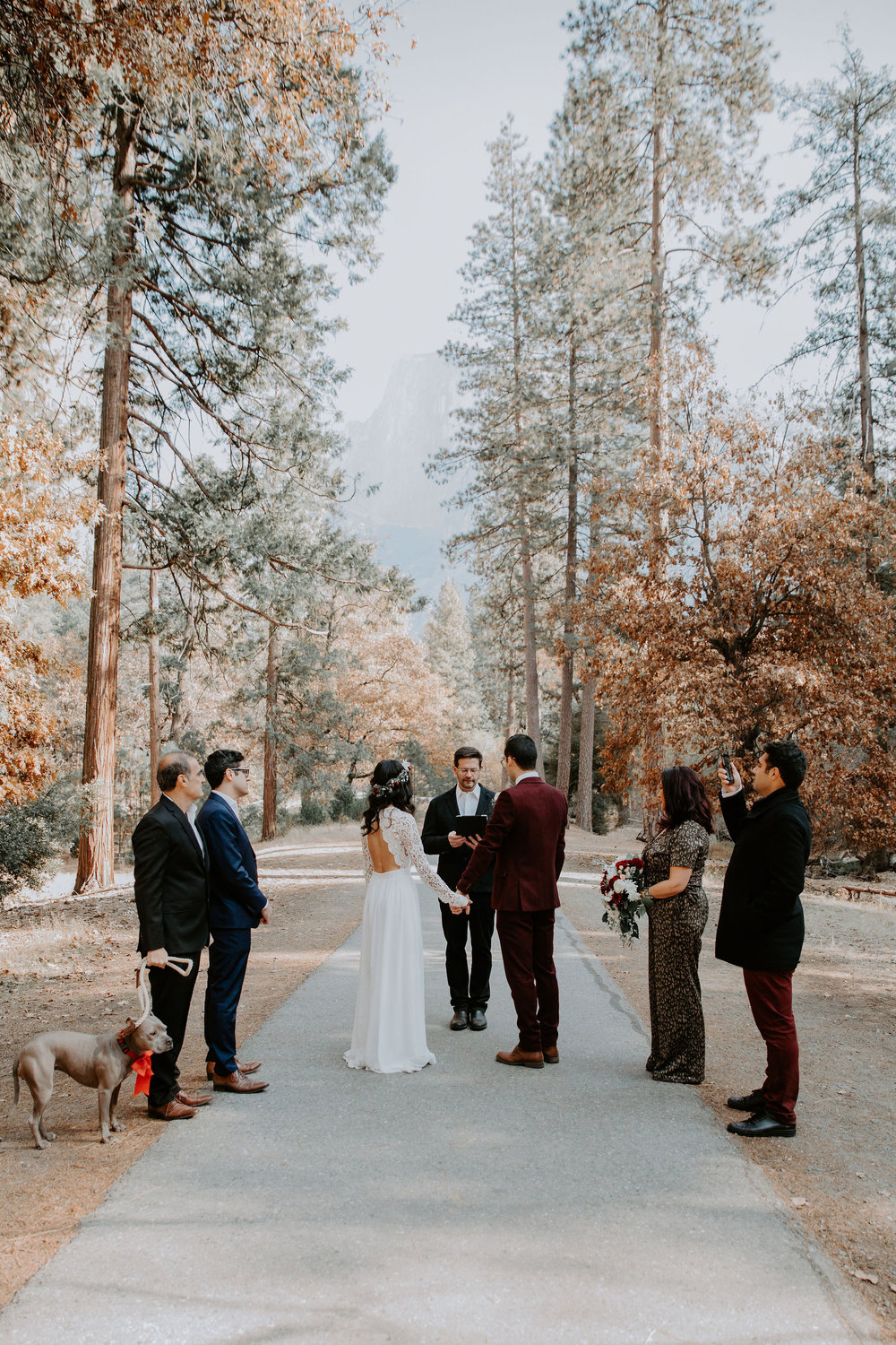 Yosemite National Park Elopement Ceremony May Iosotaluno Photography  Half Dome