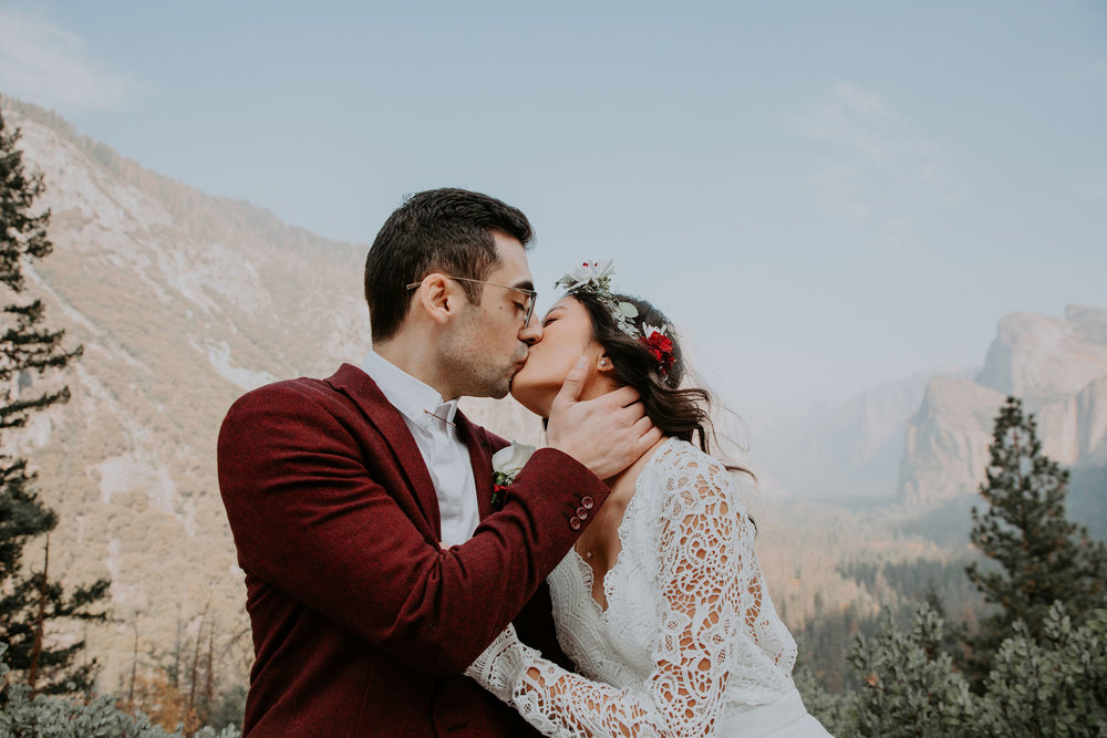 Yosemite National Park Elopement Tunnel View May Iosotaluno Photography