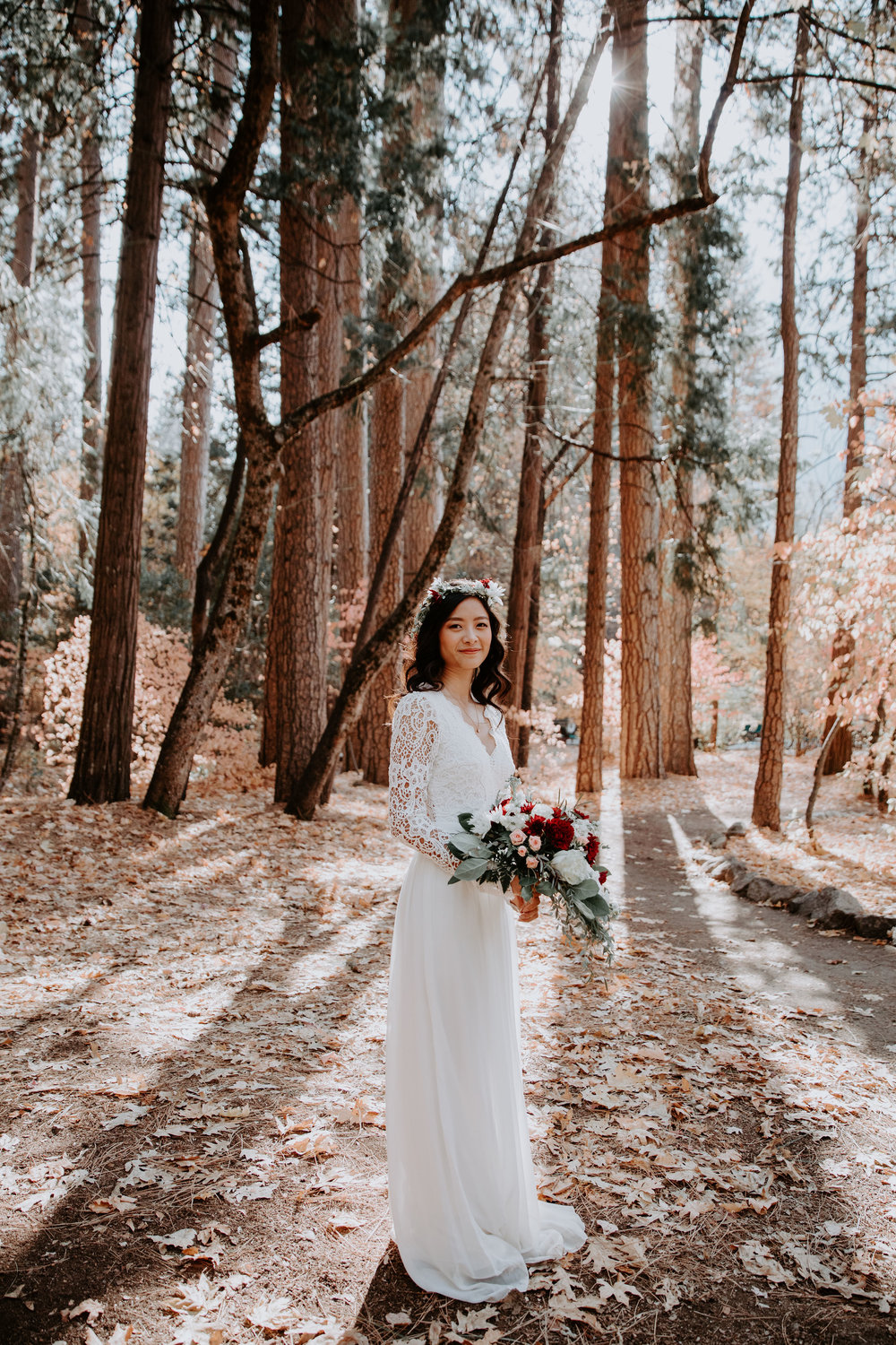 Bride Yosemite National Park Elopement Majestic Hotel May Iosotaluno Photography