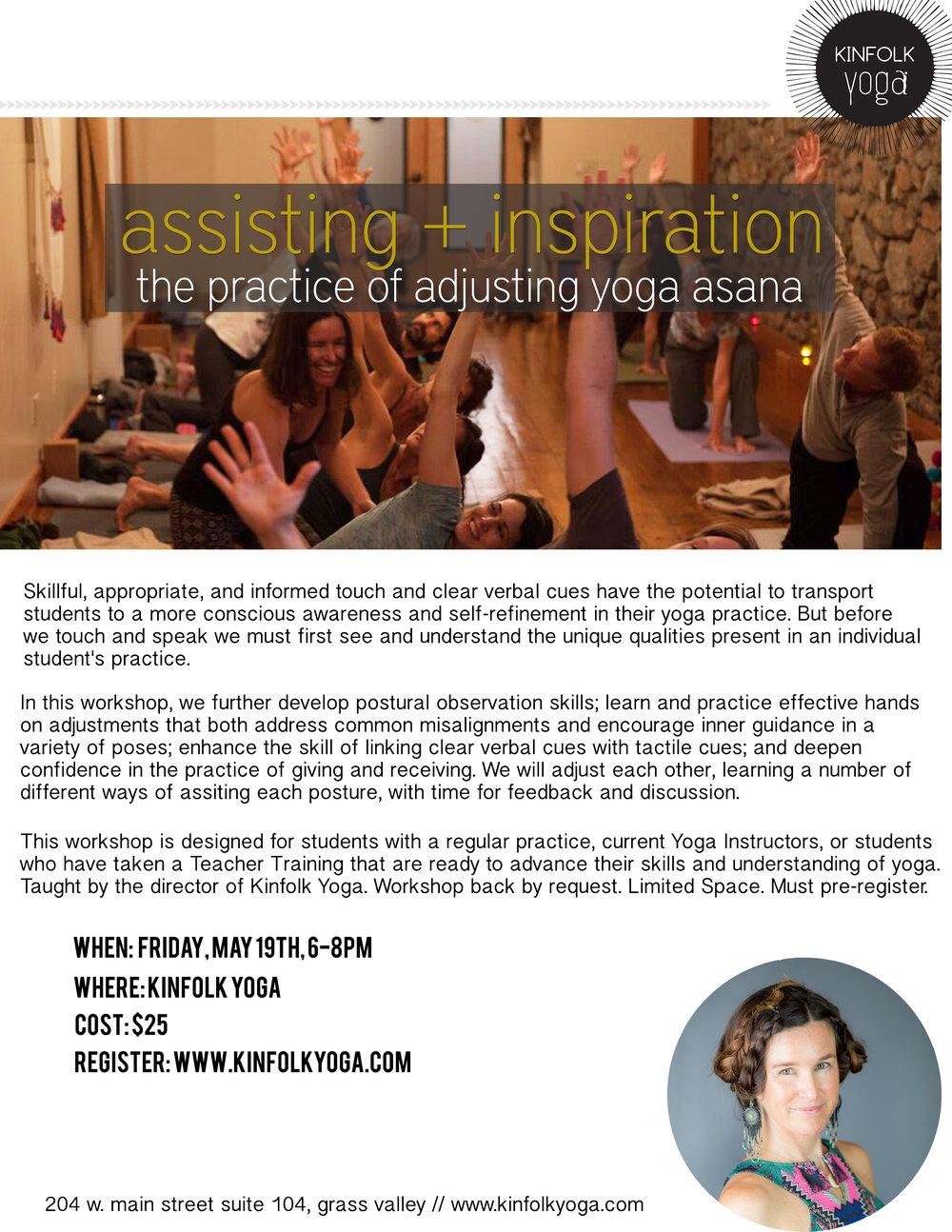 kinfolk yoga workshop adjustments yoga inspiration