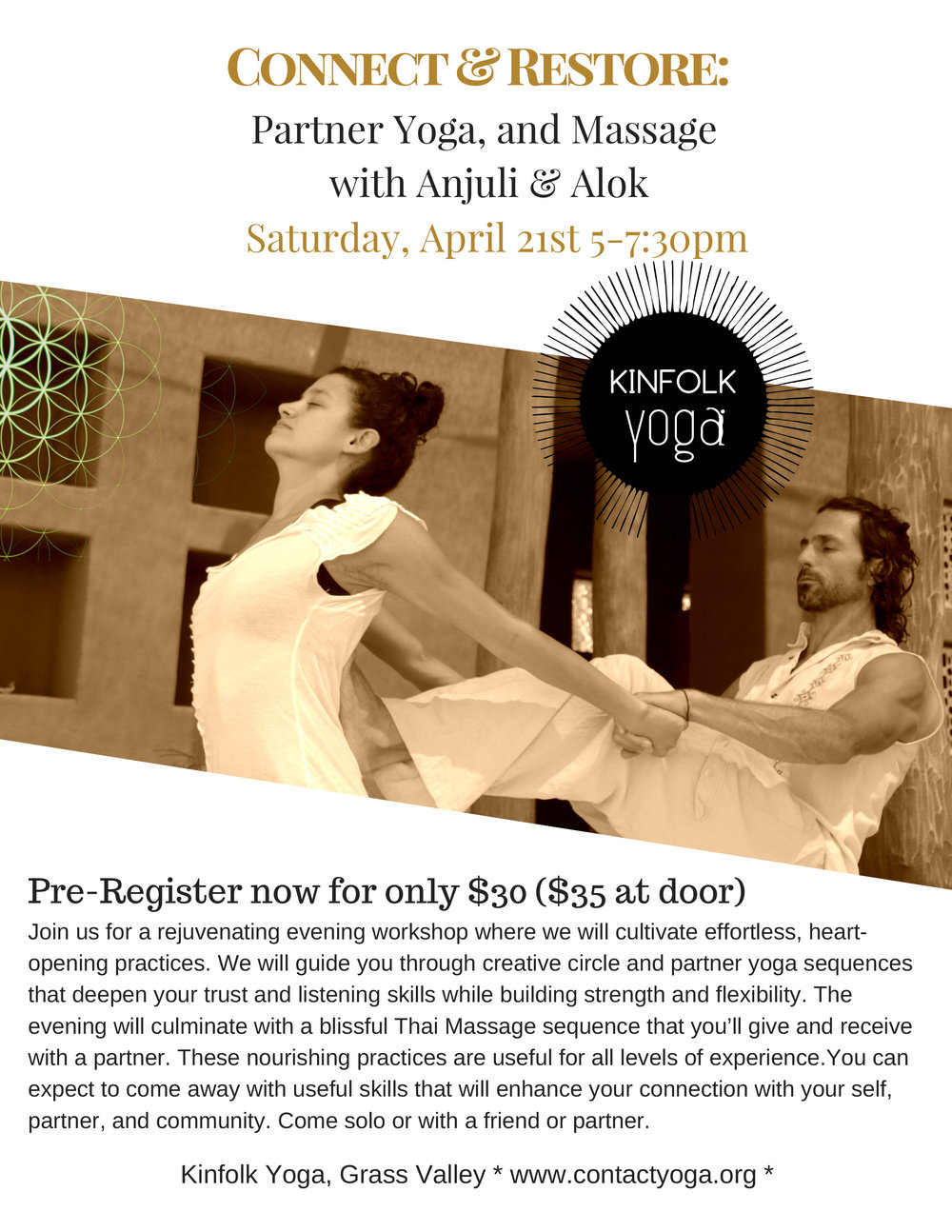 Kinfolk Yoga Partner Yoga  Massage