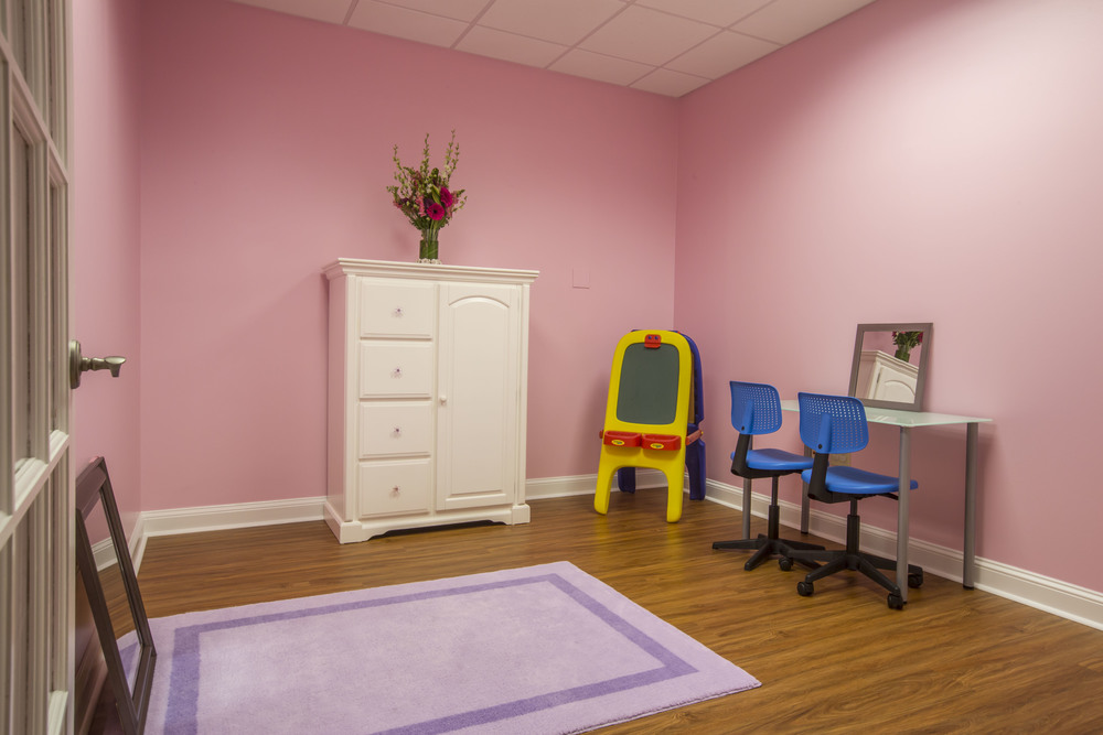We have different rooms for different ages and different kinds of therapy.