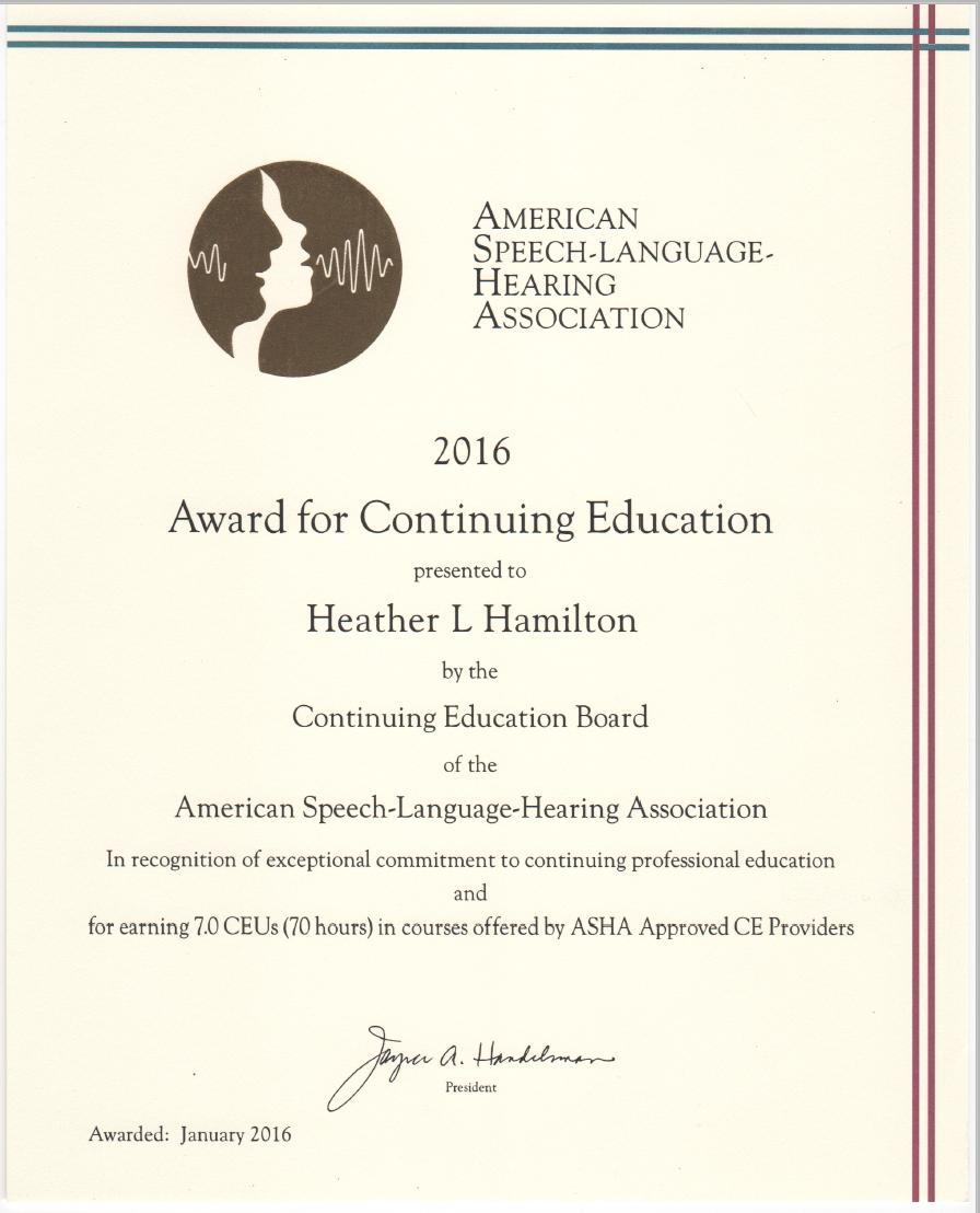 2016 ACE AWARD LISTING