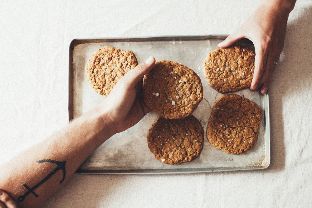 salted oatmeal cornflake cookie, aka the man cookie