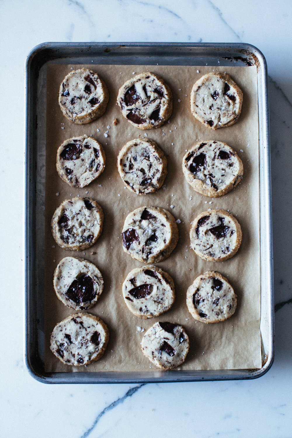 13. on a cookie sheet | chocolate chunk shortbread.jpg