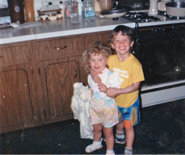 Age spacing: the closer, the better? Shown here with my brother, circa 1987.