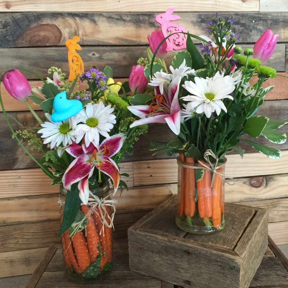 Diy Fresh Floral Design Cheery Easter Centerpiece The Makery