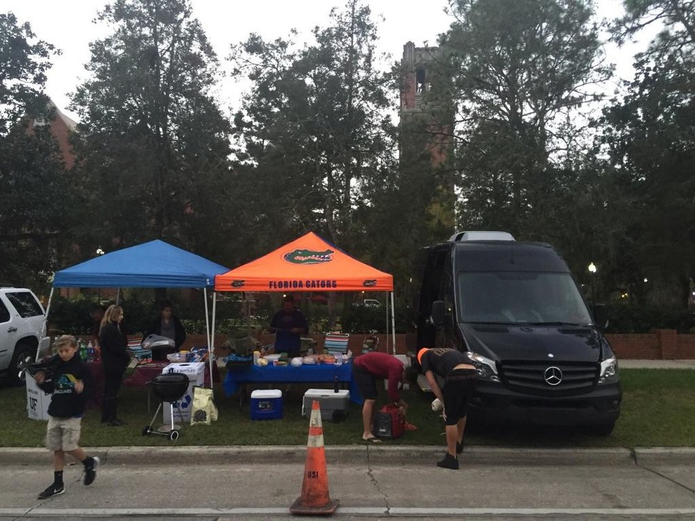 Pictured above is my family's tailgate in Gainesville UF FSU weekend.