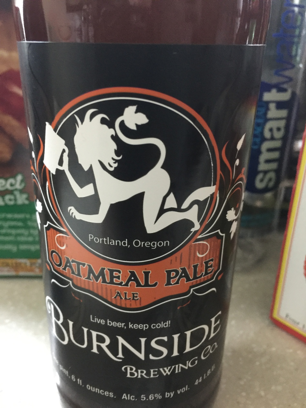 Burnside brewing Oatmeal Pale Ale    A good beer to guage a friend or date's taste in beer. A very universal beer, acceptable to pretty much any palate. This is the type of beer that you can drink whilst having an intellectual, deep, and substantive conversation with people.  7.75/10