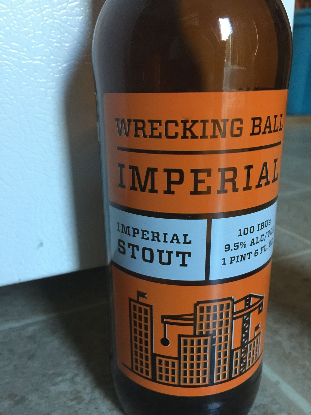 Wrecking Ball Brewing Imperial Stout   A nearly perfect stout. Don't be fooled by the 100IBU, this is not a bitter stout. It is a balanced, well defined stout beer with hints of chocolate that seem to blend into your tongue. A slow drinking, easy going beer.  Ratings:  Josh 9.5/10  Justyn: 9/10  Jaren: 8/10  Average: 8.83/10