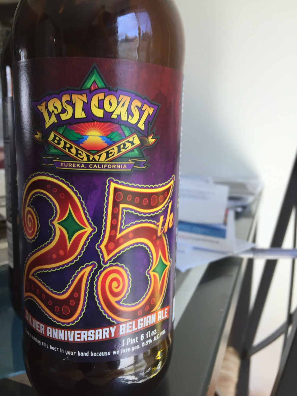 Lost Coast Brewery 25th Anniversary Belgian