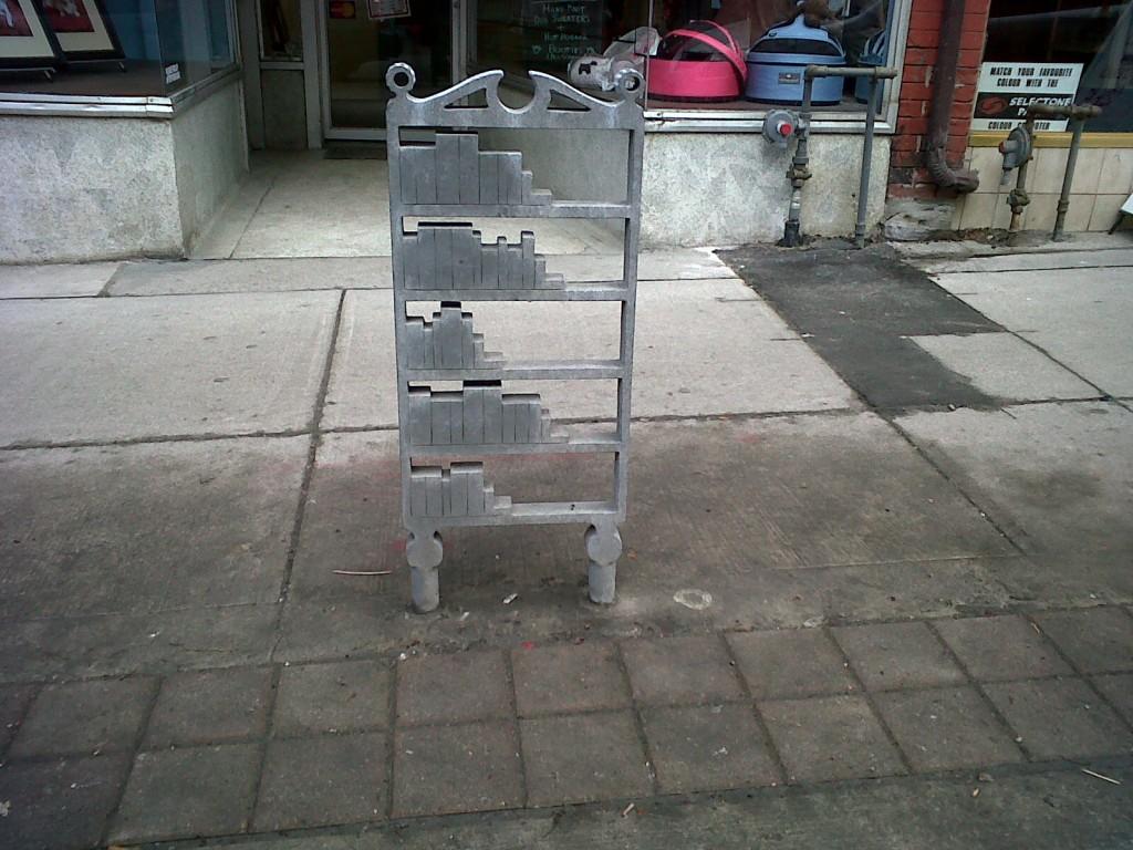 Bookshelf Bike Rack