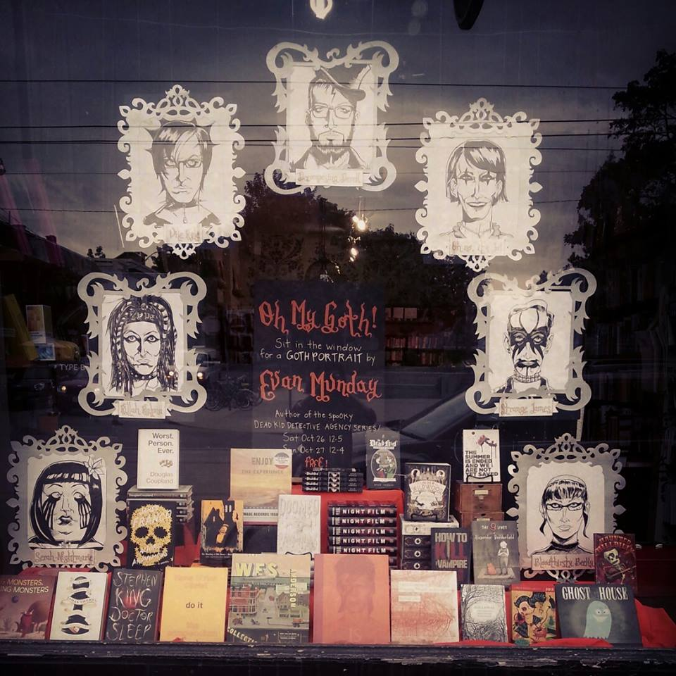 Type Books Halloween Window