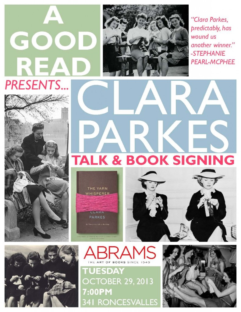 A Good Read Yarn Whisperer Clara Parkes Event