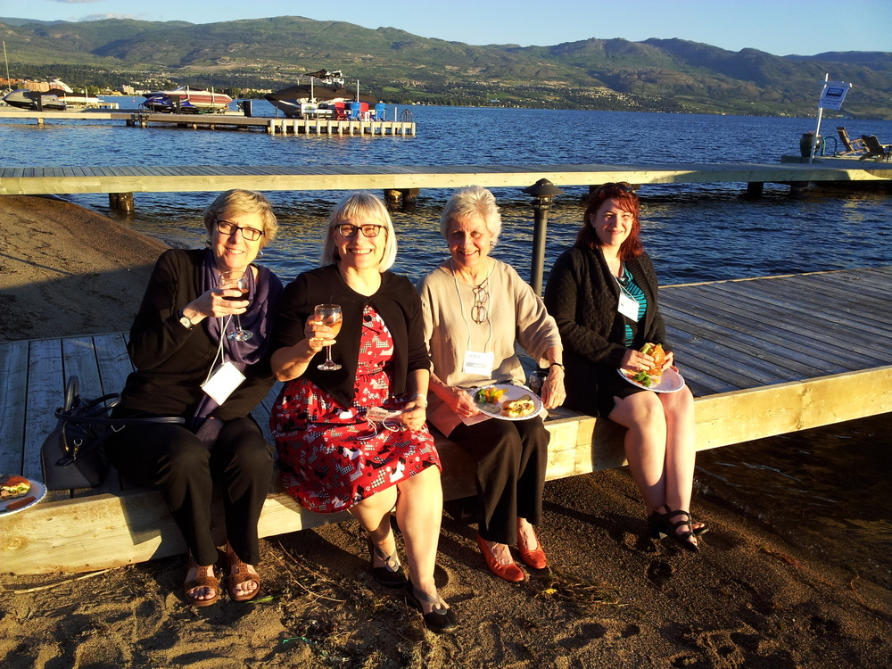 L to R: Susan (Hager Books), Iolanda Millar (Manda Group), Andrea (Hager Books) and Angela (Open Book)