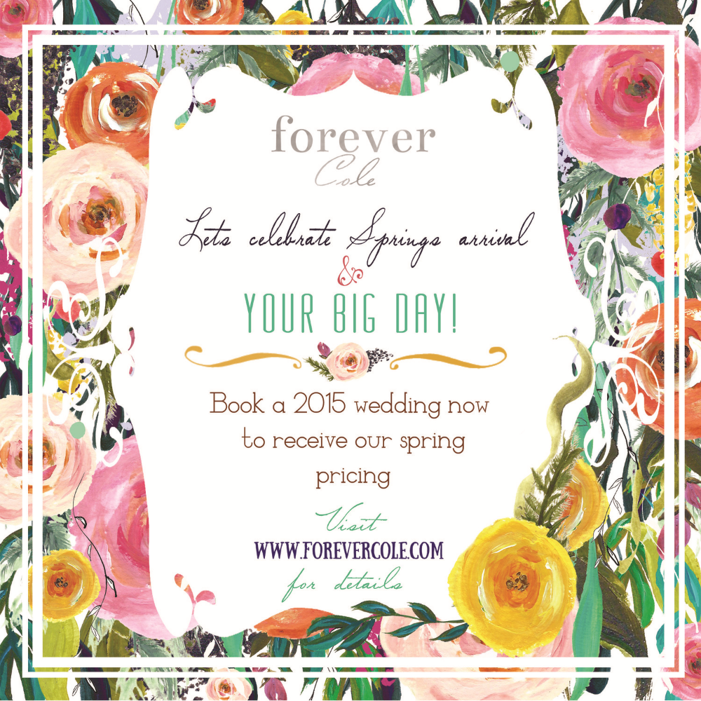 Forever Cole Events Spring Savings