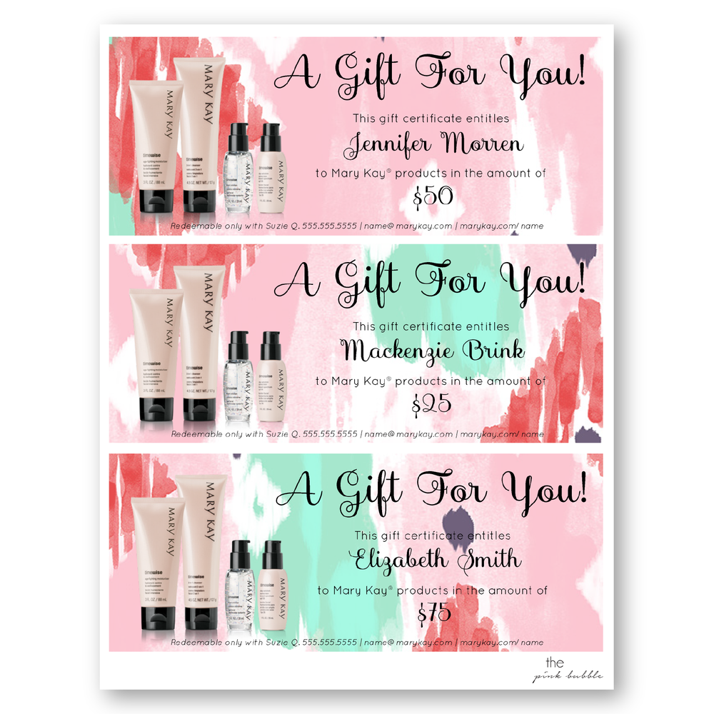 Mary kay gift certificate birthday pictures to pin on pinterest gift certificates mary kay certificate checo that 564x729 freebies yadclub Choice Image