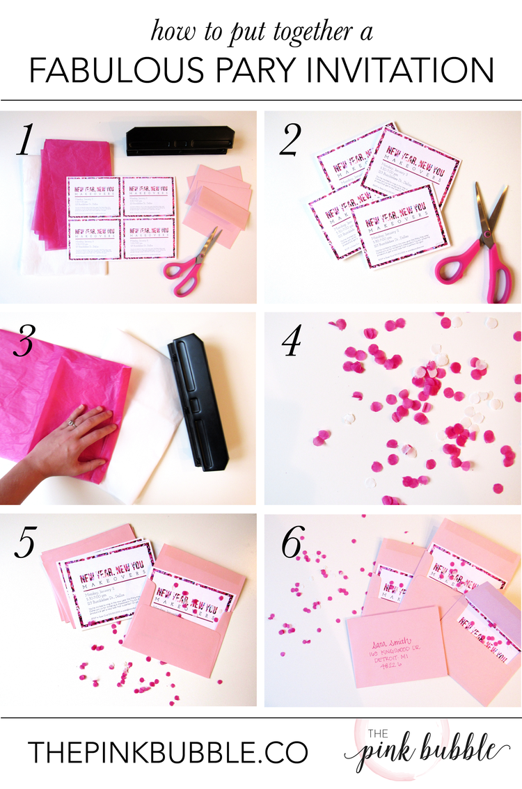How to Put Together a Fabulous Party Invitation — The Pink Bubble