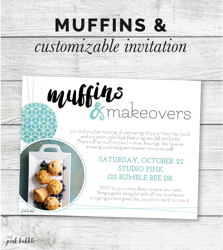 Muffins & ... Invitation! — The Pink Bubble