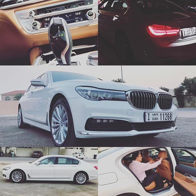 Dad's new ride #bmw7series #mydubai #yallah