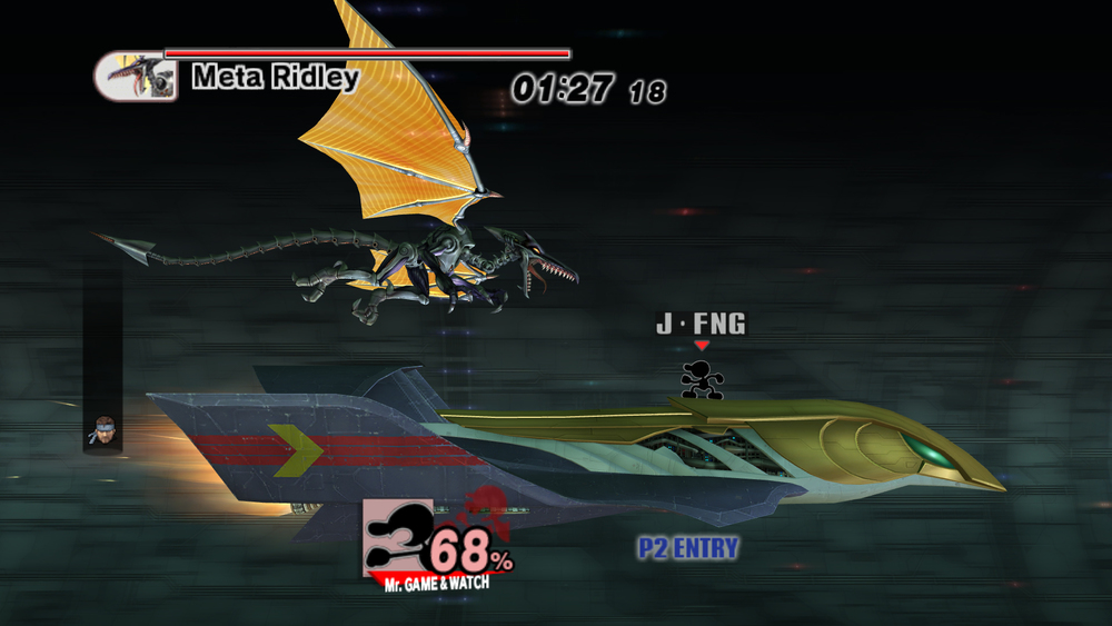 This battle against Ridley in Subspace Emissary is fun...