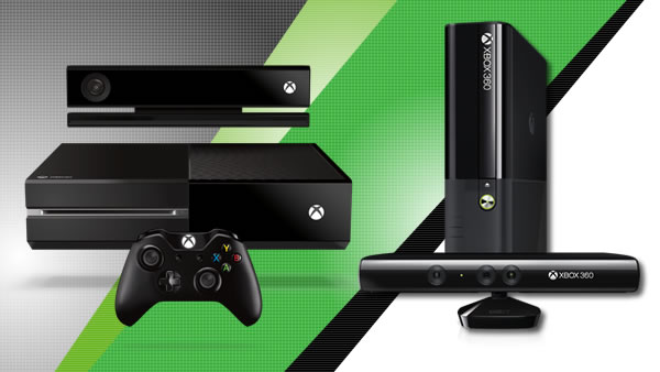 Xbox One (left) and Xbox 360