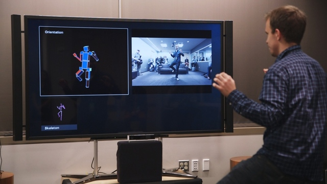 A demonstration of Xbox One Kinect motion-tracking