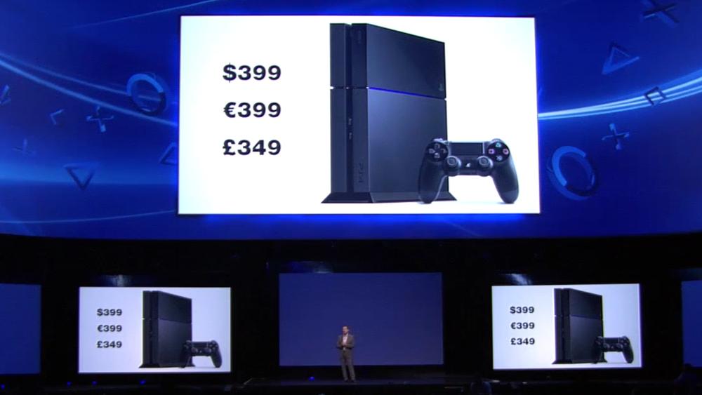 PS4 price announced at E3 2013