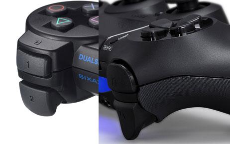 Dualshock 3 (left) and Dualshock 4 shoulder buttons/triggers
