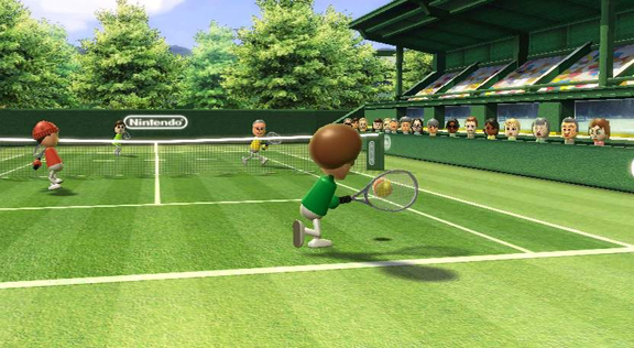 A game of tennis in Wii Sports