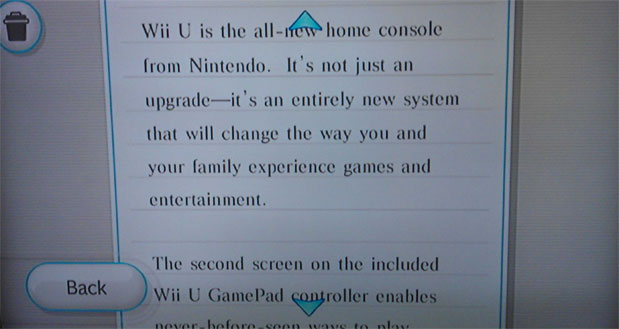 Message sent to Wii owners, to clarify the nature of the new Wii U