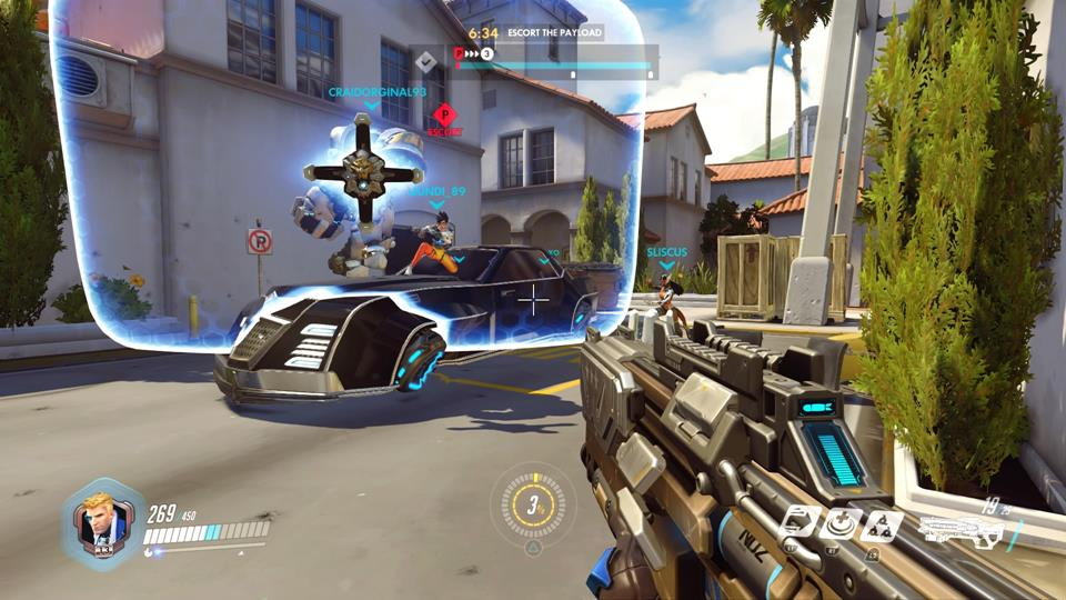 Escorting the payload on the Hybrid map Hollywood