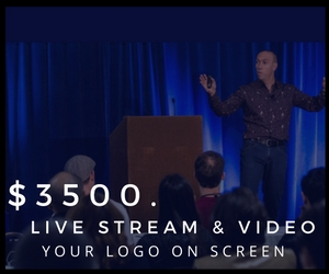 Your company logo will appear on the screen during the live-stream and will be seen on all 2018 recordings sold.