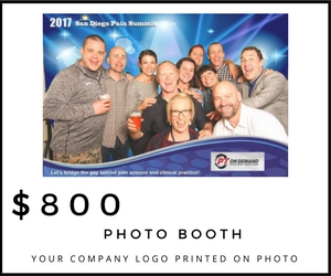 Your company logo will be placed on the foreground of all photos taken during the Networking Event.