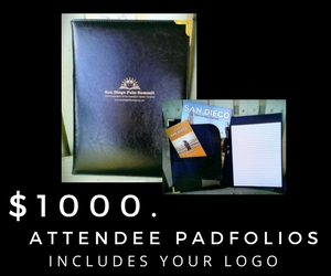 Your company logo will be placed on the front cover & company materials placed inside front jacket pocket.
