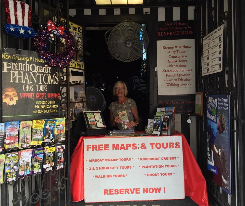 Charlotte Crist, co-owner at Gators and Ghosts, is happy to assist you when you visit our booth at 500 Bourbon Street in the French Quarter of New Orleans. We're there 10 a.m. to 6 p.m.