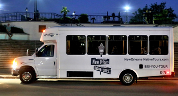 Graveyard & Ghost Bus Tour - $45 per person. 7 pm or 9:30 pm nightly.