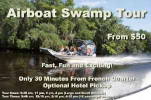 Airboat Swamp Tours Starting at $50