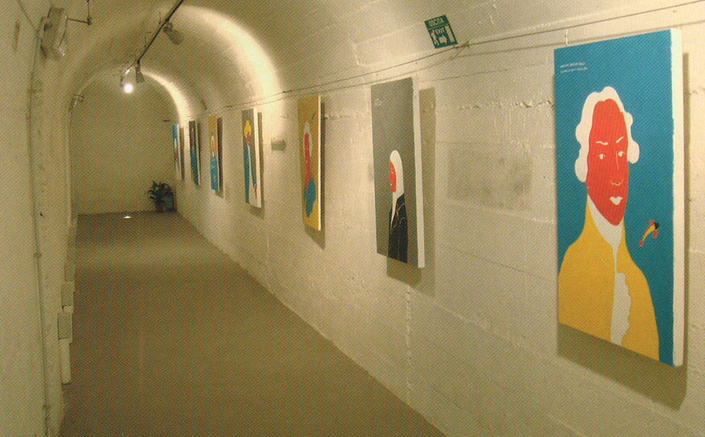 Paintings by Ernesto Tatafiore exhibited at Largo Baracche.  Image Credit: Chiamata all'Arte, edited by Giuseppe Ruffo and Pietro Tatafiore