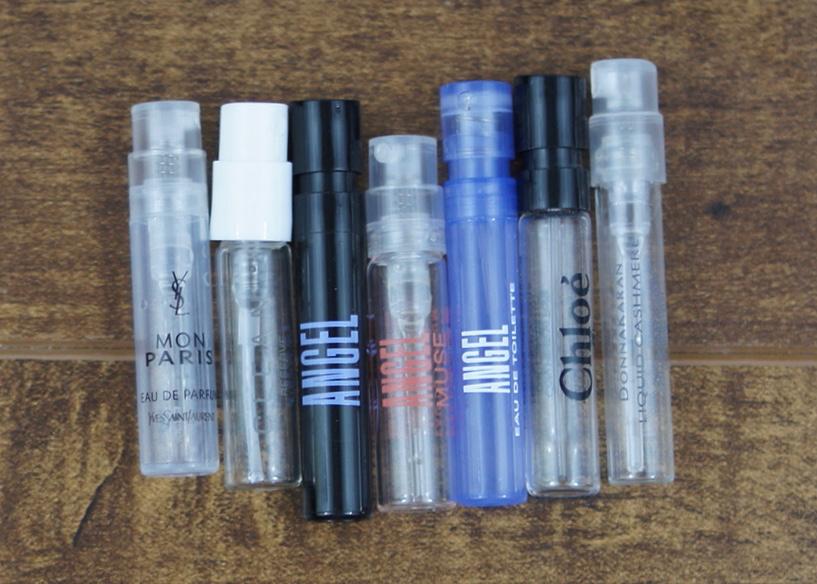 Perfume samples.