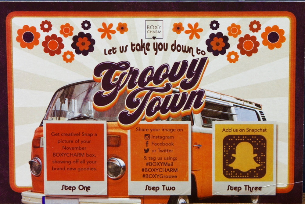 BoxyCharm November 2016 - Groovy Town!