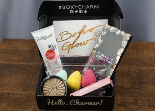 The contents of the April 2017 'Boho Glow' BoxyCharm