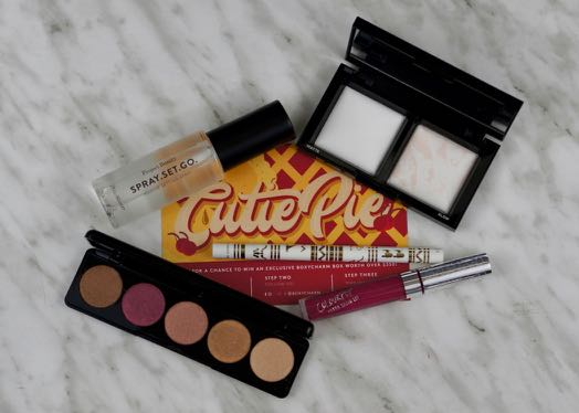 All the goodies inside the July 'Cutie Pie' BoxyCharm.