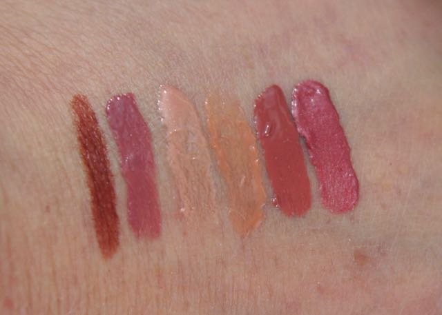 Swatches of the second Sephora Favorites - Give Me Some Nude Lip - Tarte- , Nars- , Marc Jacobs- , Too Faced- , Anastasia- , and Urban Decay-