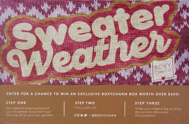 November 2017 BoxyCharm-Sweater Weather-CardNovember 2017 BoxyCharm-Sweater WeatherDSC02857.jpg