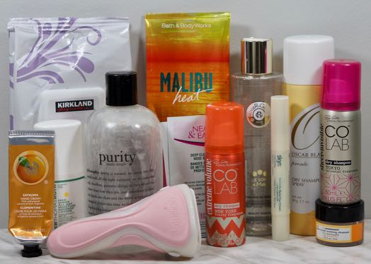 A few different hair and skincare empties!