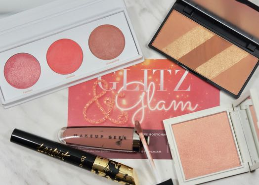 What I got inside my December 'Glitz & Glam' Boxy Charm.